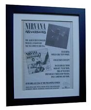 NIRVANA+Nevermind+POSTER+AD+ORIGINAL 1992+TOP QUALITY FRAMED+EXPRESS+GLOBAL SHIP
