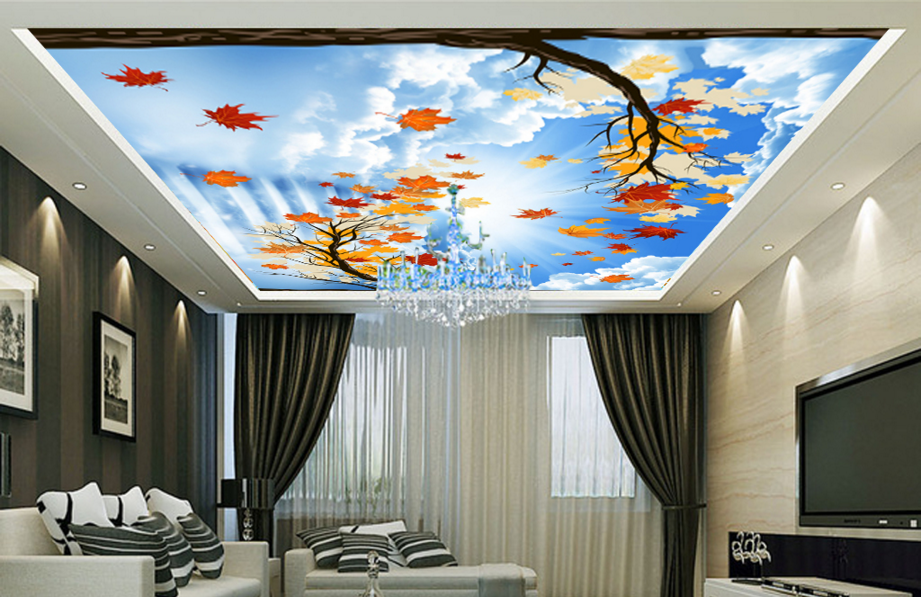 3D Maple Leaf Tree Sky 788 Wall Paper Wall Print Decal Wall Deco AJ WALLPAPER