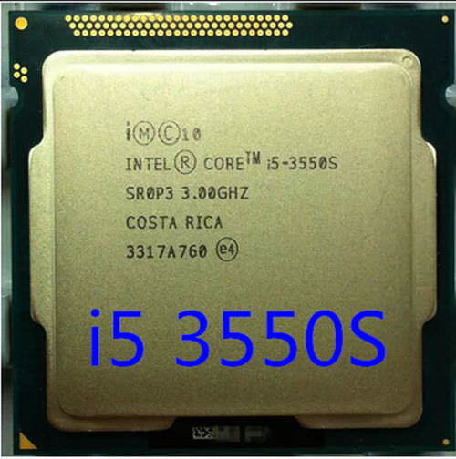 Intel Core i5-3550S SR0P3 3 GHz Quad-Core (CM8063701095203) Processor Socket H2
