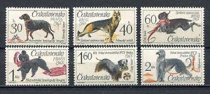 37139) Czechoslovakia 1965 MNH Dogs 6v Scott #1312/17