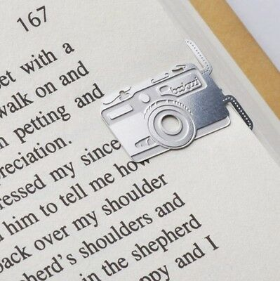 mini metal CAMERA girl's summer bookmark silver color for gift korean fashion