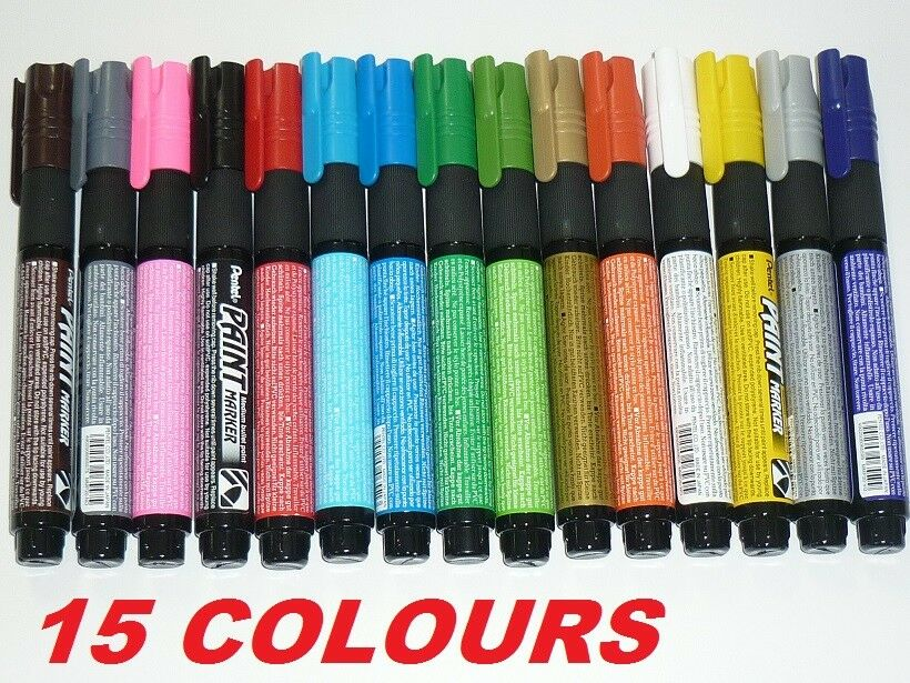 15X Pentel Paint Marker MMP20 Medium bullet point pens markers 1 of each colour