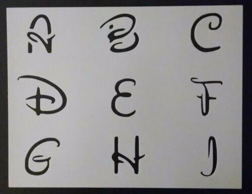"Disney Alphabet 2/"" Letters Font 11/"" x 8.5/"" Custom Stencil FAST FREE SHIPPING"