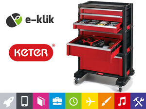 Professional Keter 6 Drawer Tool Chest System Organizer