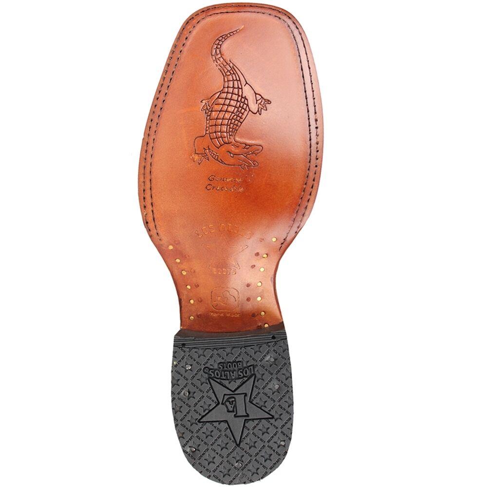 LOS ALTOS Oryx dedo del Genuino pie cuadrado Genuino del Cocodrilo Caiman Western Cowboy Botas (D) 8920a5