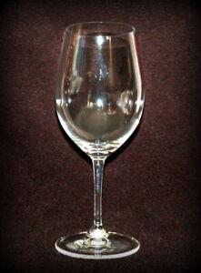 Large Bordeaux Wine Glass Riedel Crystal Stemware W Small Etched Diamonds Ebay