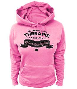 Damen-Hoodie-Ich-brauche-keine-Therapie-ich-muss-einfach-nur-nach-Timmendorfer