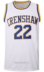 Quincy-McCall-22-Crenshaw-High-School-Men-039-s-Basketball-Jersey-Movie-Stitched
