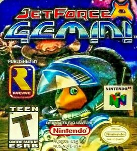 JET-FORCE-GEMINI-N64-Nintendo-64-1999-Rare-Action-Adv-Shoot-Game-Tested-w-Manual