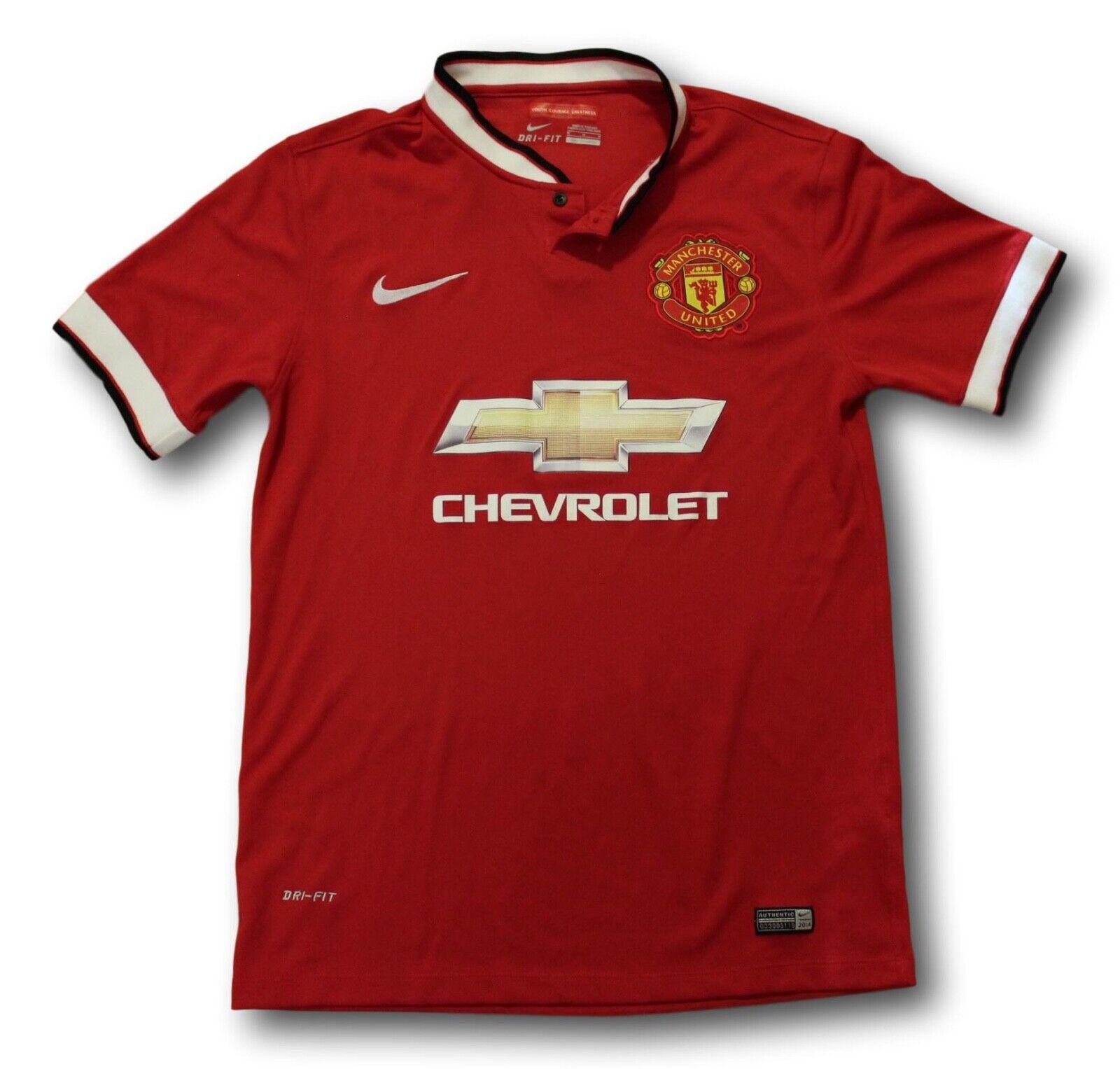 2014-15 Men's Manchester United Home Soccer Football Shirt Jersey Size M