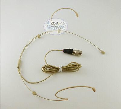 Double Hook Beige Headset Mic ZAMA Headworn Mic For Audio Technica Wireless Mic