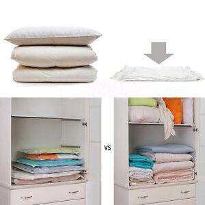 transparent vakuumbeutel vakuum aufbewahrung tasche kleiderbeutel haus 11gr e ebay. Black Bedroom Furniture Sets. Home Design Ideas