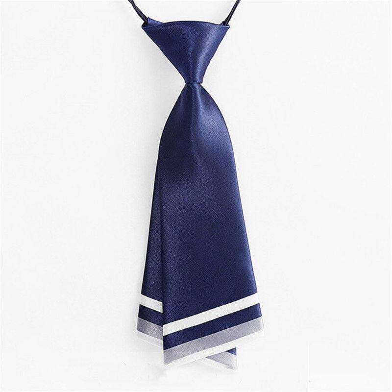 Japanese Lady Girls Tie Satin Pre-tied Necktie Uniform Cute Decor Preppy Style