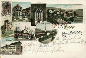 Ansichtskarte-Maulbronn-1902-Hotel-Post-Koster-Nr-782