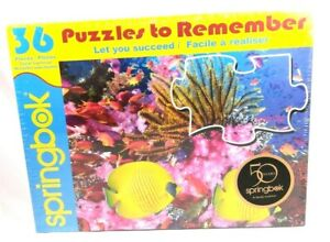 Details about Springbok Coral Carnival Puzzles to Remember 36 Large Pieces  Alzheimer Puzzle