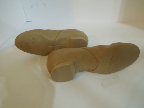 NWT Bloch S401G Supa Slip On Jazz Dance Shoes Tan Kids