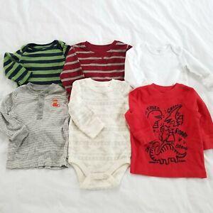 9 Months Baby Boy Clothes Tops Tshirt Long Sleeve Shirts Lot Of 6 Tees Fall Ebay