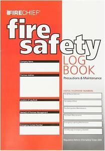 Fire Safety Log Book - Meets UK Regs not cheap copy - FREE DELIVERY