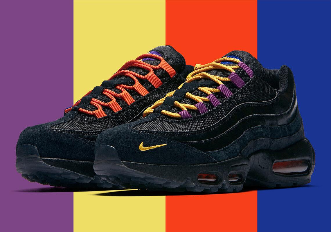 """NIKE AIR MAX 95 PRM """"Los Angeles"""" VS """"New York City"""" AT8505-001 Men's Sneakers"""