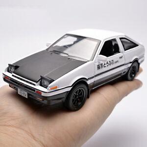Toyota-trueno-AE86-de-Initial-D-1-28-Diecast-Modelo-Coche-de-Juguete-Ninos-039-S-039-de-luz-y-sonido