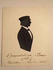Heidelberg - 1845 - Student F. Griepenkerl - Schattenriss Silhouette
