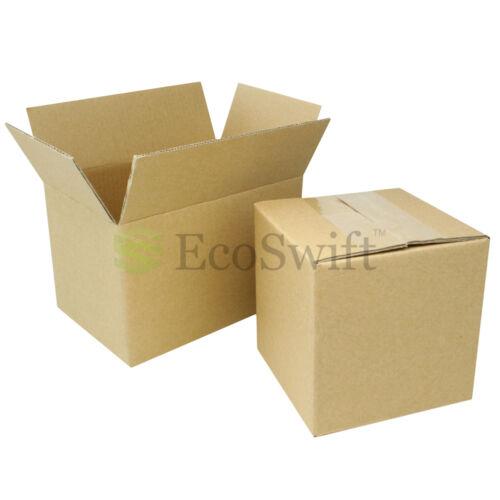 "1-200 4x4x4 /""EcoSwift/"" Cardboard Packing Mailing Shipping Corrugated Box Cartons"
