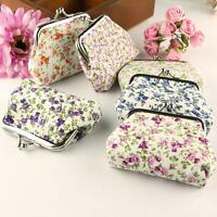 Fashion Womens Small Wallet Flower Cotton Hasp Purse Clutch Bag Handbag Mini Bag