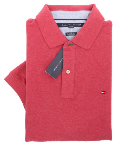 $0 Free Ship Tommy Hilfiger Men/'s Short Sleeve Logo Pique Polo Shirt