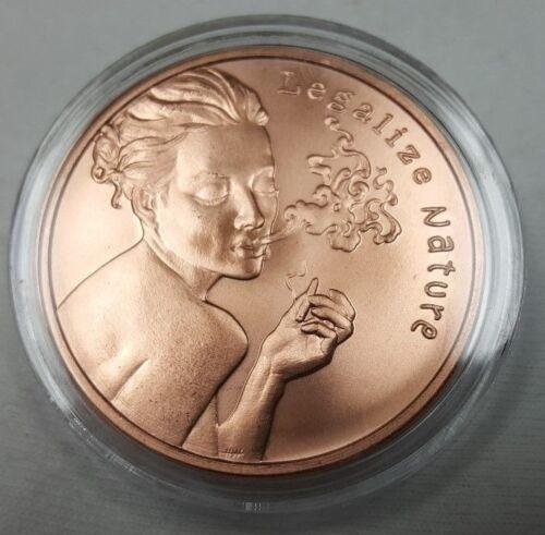 1 oz Copper Silver Shield Freedom Girl Legalize Nature Copper Round Coin
