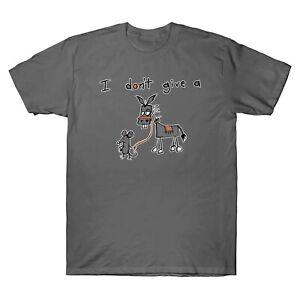 Je-ne-donne-pas-un-rat-039-s-fesses-Jackass-drole-graphique-homme-a-manches-courtes-T-Shirt-Tee