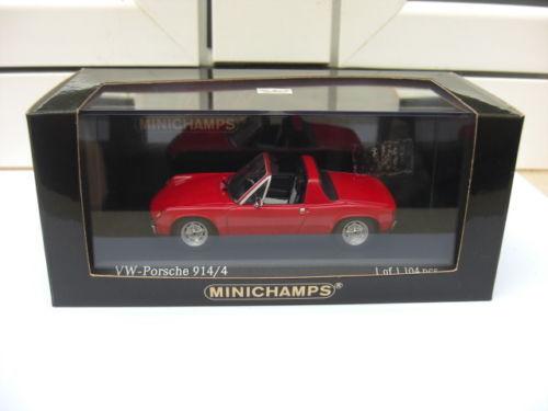 Porsche 914 4 1969 1973 red Minichamps 430065665 MIB 1 43 911 959 968 MEGA RARE