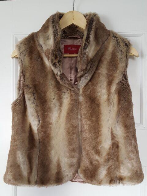 Ladies MONSOON Faux Fur Gilet - 12