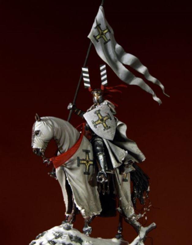 Pegaso Models 75mm Teutonic Knight White Metal Figure Kit