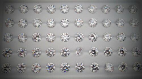 8MM Corte Redondo Estrella 5A blanco claro circonita joyas Sueltas-varios tamaños de envase