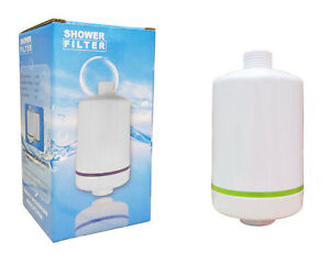 Finerfilters-Compact-Shower-Filter-with-Carbon-amp-KDF-Media-White-Finish