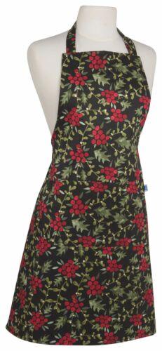 Now Designs CHEF/'S BERRY Joyeux Tablier Noir Rouge Vacances Neuf avec étiquettes 100/% coton Taille unique