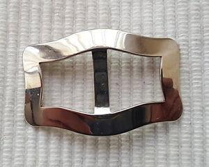 original 40er Jahre Schuh- Gürtel- Zierschnallen Silber 30x20mm Chrom Nr.2