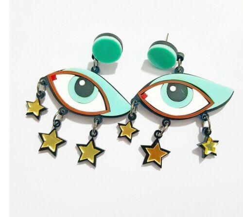 Mode féminine Résine Acrylique Oeil Boucles d/'oreilles BOHO Dangle Drop Stud Earring