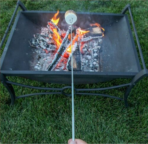 32/'/' Telescoping BBQ Marshmallow Roasting Sticks Smore Skewers Barbecue Tool 8pc