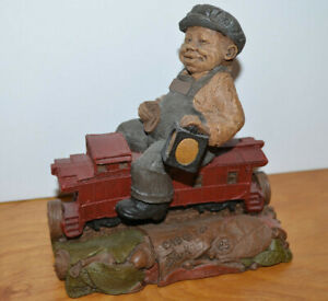 Vintage-TOM-CLARK-GNOME-FIGURINE-CAB-Train-Series-1986-6-034-Tall-Kitsch