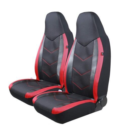 Universal Sports Carbon Fibre Mesh Design Pic Auto High Back Car Seat Covers