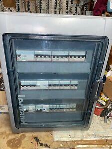 Armoire-coffret-tableau-electrique-ETANCHE-legrand-230-380V-tres-bon-etat