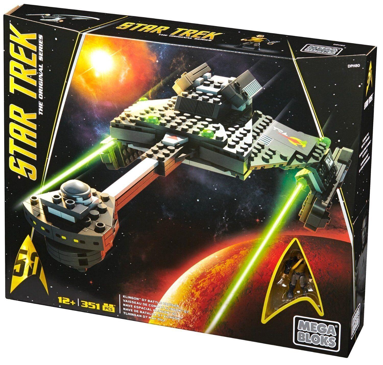 Mega Bloks Star Trek Klingon D7 Battle Cruiser Collector Set New Sealed