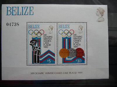 2019 Neuer Stil Belize Block 12 ** , Olympiade Moskau