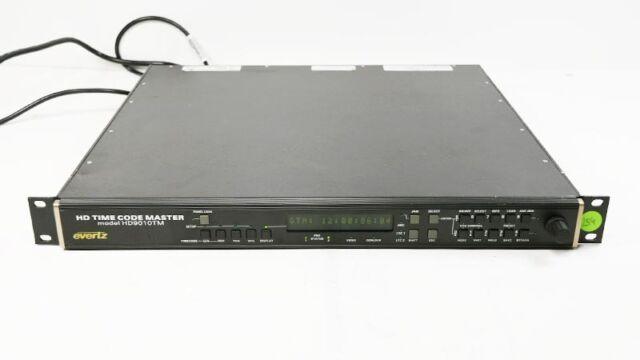 Evertz HD9010TM HD 9010 Time Code Master Generator / Reader
