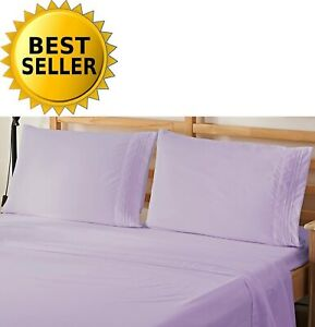 Elegant Comfort 4Pc 1500 Thread Count Egyptian Quality Bed Sheet Set CAL KING