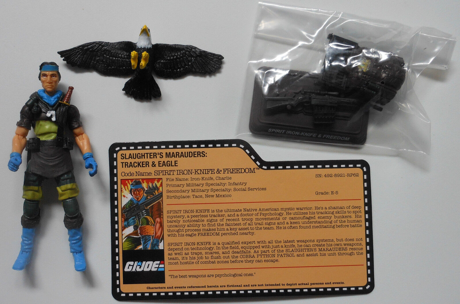 SPIRIT IRONKNIFE GI Joe Convention 2018 Exclusive scatolaed Set Loose Mint completare