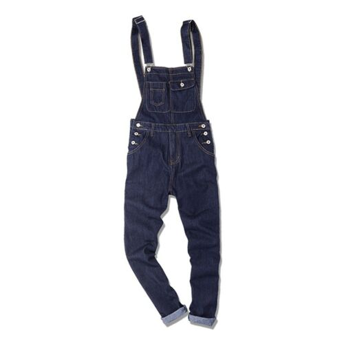 Mens Denim Overalls Slim Fit Jumpsuits Bib Pants Skinny Jeans Classic Fashion Sz