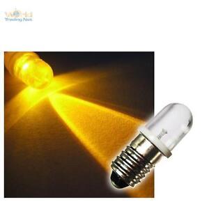 LED-Schraubsockel-Birne-GELB-12V-DC-E-10-Lampe-Leuchte