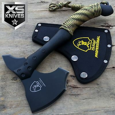 "11"" Tactical Black Tomahawk Hunting Axe Throwing Battle Hatchet Camping Survival"